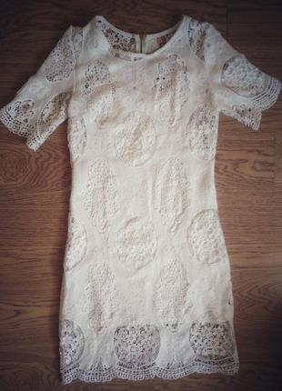 Знижка!!! білосніжна сукня k-zell, m/l