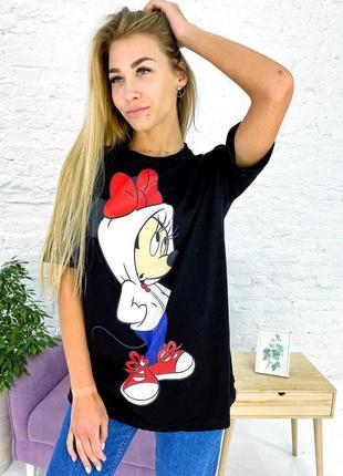 Актуальная футболка с минни маус