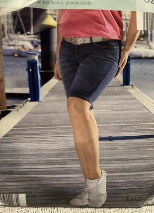Женские джинсовые бриджи blue motion размер евро 52