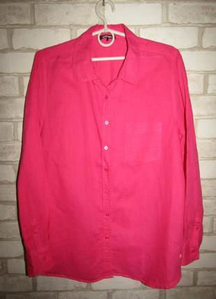 Натуральная рубашка р-р 14-16 бренд olsen