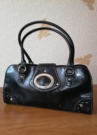 Красивая сумка в классическом стиле из качественной экокожи