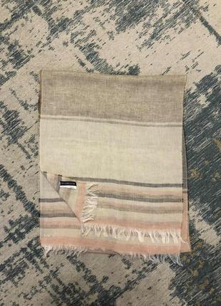 Пудровый шарф лен mcgregor!