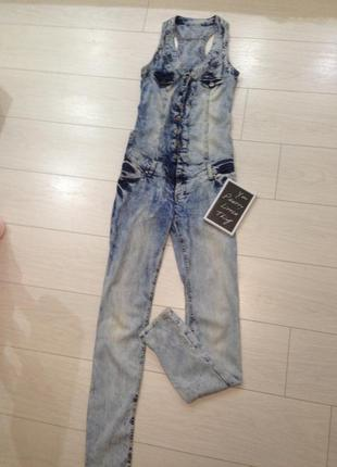 Комбинезон джинсовый, очень стильный