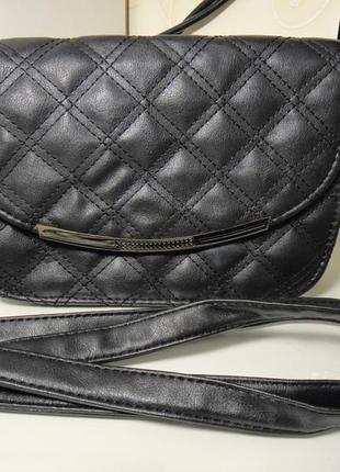 Красивая сумка. сумочка, клатч, стеганая на длинной ручке, кож зам