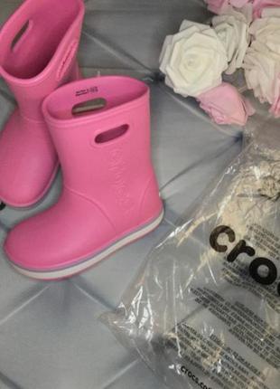 Сапожки резиновые детские rain boot crocs крокс