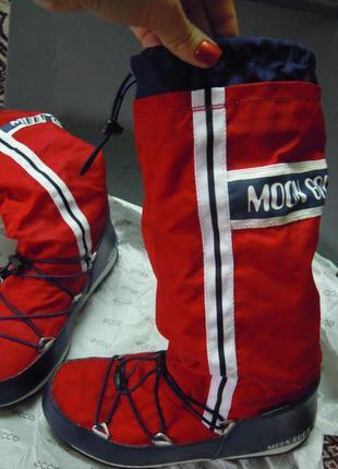 Стильные сапоги moonboots, снегоходы, луноходы, непромокаемые ботинки оригинал
