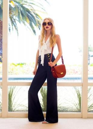 #розвантажуюсь расклешенные брюки с лампасами в морском стиле