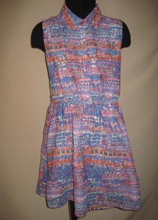 Шифоновое  платье george 7-8л