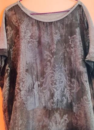 Блуза шифоновая на хлопковой подкладке,италия