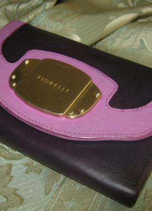 Fiorelli итальянский кожаный кошелек со множеством отделений натуральная кожа италия