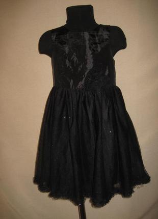 Нарядное платье h&m 7-8л