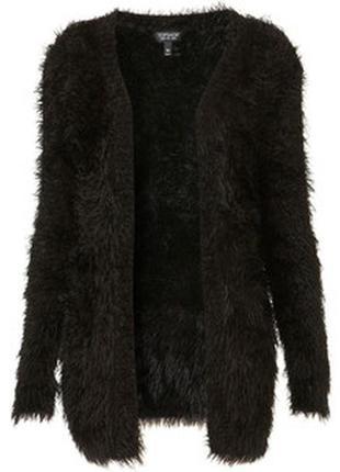 Мягкий пушистый свитер кардиган травка черный primark, размер m-l