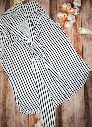 H&m новая блуза, рубашка в полоску, полосатая. размер s_m.