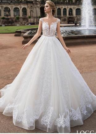 Шикарне весільне плаття бренду allegresse loggan