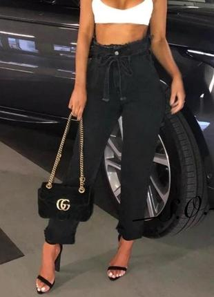 Темносерые джинсы slouchy слоучи багги баллон мом mom jeans турция супер цена!