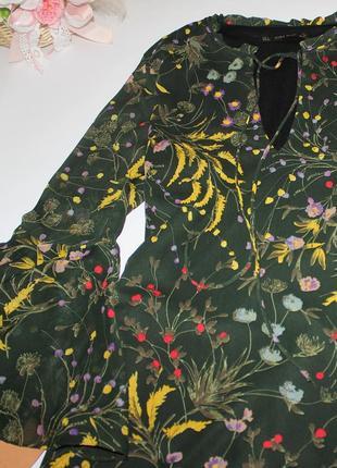 Шикарное легкое платье в цветы свободного кроя zara4 фото