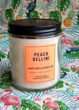 Свеча bath and body works peach bellini