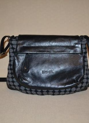 Кросс боди кожа кроссбоди кожаная сумка швейцария em-el