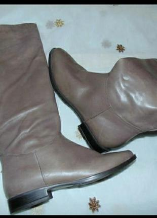 Женские кожаные сапоги.1 фото
