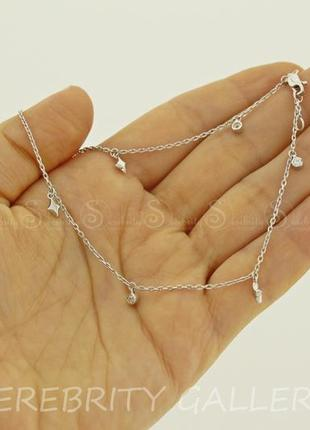 10% скидка подписчику браслет серебряный на ногу br 5110576 an rd w 27 серебро 925
