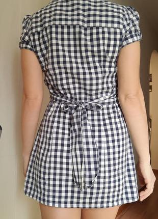 Рубашка-туника женская с коротким рукавом2 фото