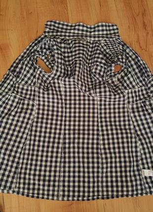 Рубашка-туника женская с коротким рукавом5 фото