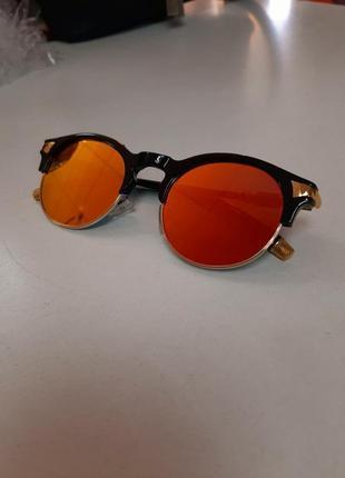 Очки солнечные солнцезащитные круглые броулайнеры