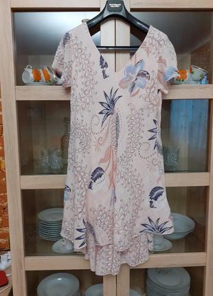 Двухслойное котоновое платье большого размера