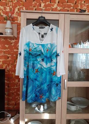 Обворожительное вискозное платье туника большого размера индия