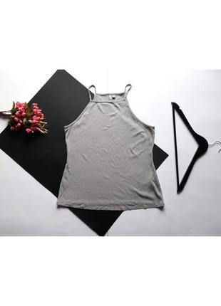 Классная стильная длинная майка блуза в рубчик от asos. xxl