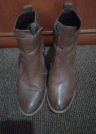 Ботинки на среднем каблуке весна осень 👍 удобные-38 р