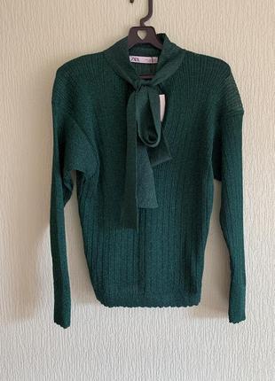 Новый изумрудный свитер zara