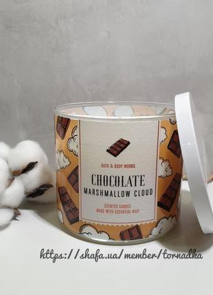 Ароматическая свеча bath and body works - chocolate marshmallow clouds