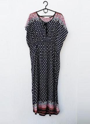 Летнее легкое платье из вискозы с орнаментом в пол 🌿