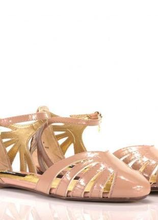 Blink нюдовые лакированные балетки, р.41, стелька 26 см
