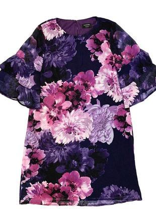 Яркое цветочное платье c&a