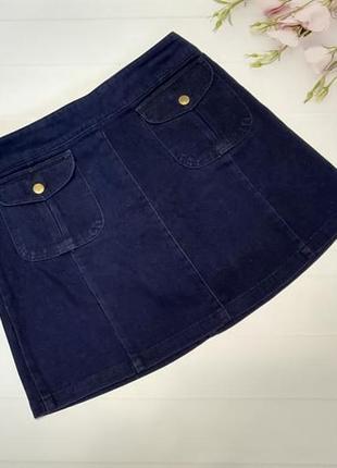 Нереальная джинсовая юбка со средней талией джинсова спідниця з середньою талією