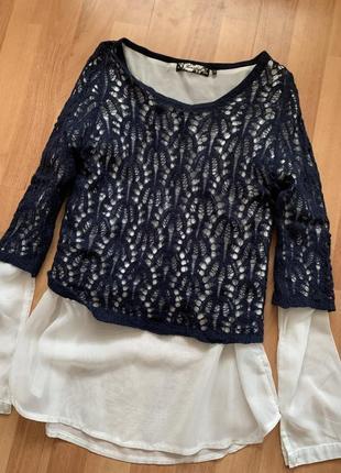 Блуза кофта 2 в 1