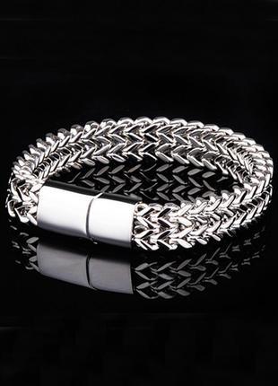 Мужской браслет нержавеющая сталь, цепочка на руку
