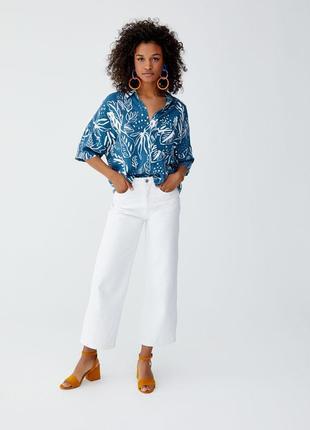 Тотальная распродажа! крутейшая кроп – рубашка в тропичный принт