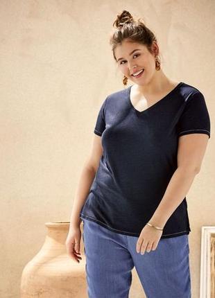Льняная футболка xl 48-50 euro (54-56) esmara, германия