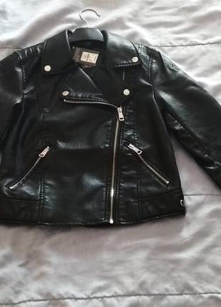 Черная косуха primark, кожанка, куртка, курточка