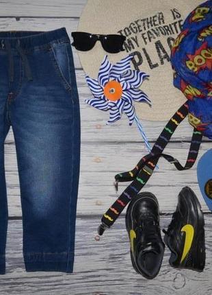 3 - 4 г 104 см обалденные фирменные трикотажные штаны под джинс двунить benetton