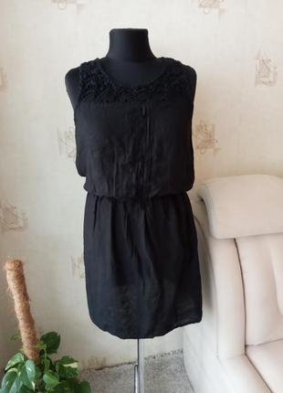 Натуральное летнее платье, вискоза, кружево