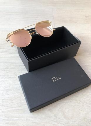 Розовые очки диор dior розовое стекло