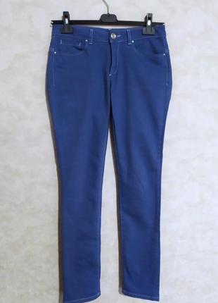 Синие джинсы красивого оттенка, promiss, m/38