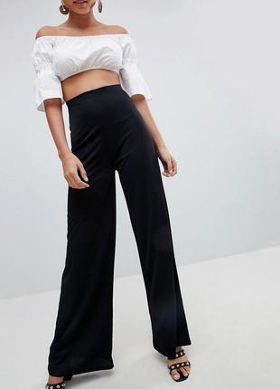 Широкие сатиновые брюки с завышенной талией prettylittlething (бирка!)