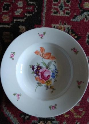 Большая миска для супа.фарфор чехословакия