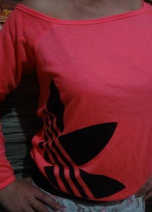 Классная эффектная кофточка лилия adidas размер м