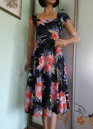 Натуральное летнее платье
